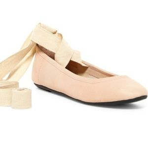 Free People | Nude Degas Leather Ballet Flats